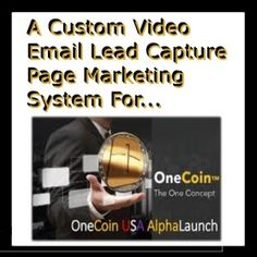 One Coin Custom Designed Video Email Lead Capture Page System
