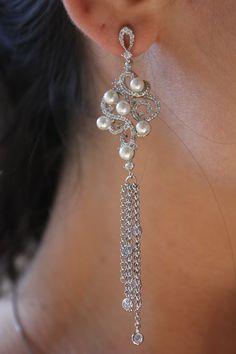 Glamour Perolado - Folheado a ródio #rodio #brinco #pearl Comprar em Cris Degan joias