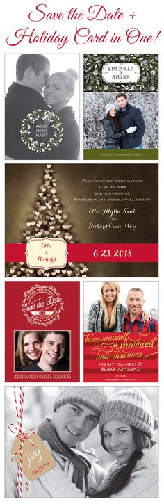 Marry Christmas Holiday Wedding Save the Date Print by JpszDesigns