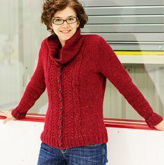 Kittiwake Cardigan : Knitty Winter 2012