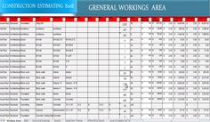 Construction Estimating software in excel sheet - xsell is a spreadsheet program meant for construction costing. http://www.quantity-takeoff.com/construction-estimating-software.htm