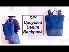 bf2b7942824c Refashion DIY Upcycled Denim Backpack / OLD JEANS Recycle / リュックサックの作り方 /  Sewing Tutorialㅣmadebyaya