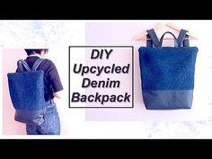 (10) Refashion DIY Upcycled Denim Backpack // リュックサックの作り方ㅣmadebyaya - YouTube