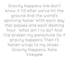 Gravity Happens, Kate Voegele