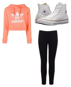 """""""Untitled #28"""" by alaninaissant on Polyvore featuring adidas, Warehouse and Converse"""