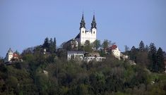 The Pöstlingberg church in Linz Heart Of Europe, Hotels, South Tyrol, Capital City, Austria, Places Ive Been, Paris Skyline, Germany, House Styles