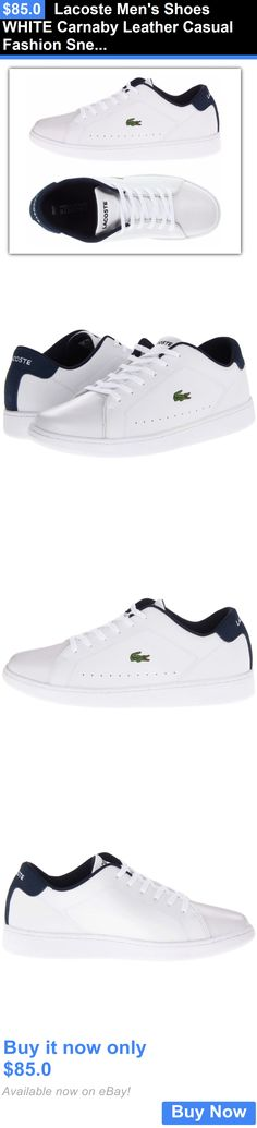 Men Shoes: Lacoste Mens Shoes White Carnaby Leather Casual Fashion Sneaker New BUY IT NOW ONLY: $85.0