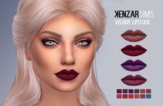 Velous Lipstick at Kenzar Sims via Sims 4 Updates
