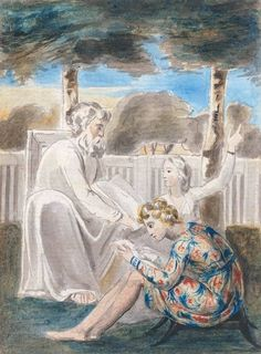 """""""Age Teaching Youth"""", c. 1785-1790 / William Blake (1757-1827) / Tate, London, UK"""