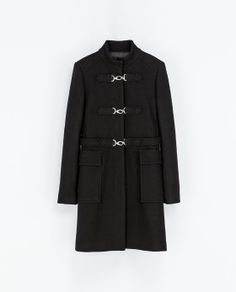 Image 7 of WOOL COAT WITH HOOK AND EYE CLOSURE from Zara