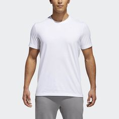 Shop our selection of men's short sleeve athletic shirts. See all available colors and styles in the official adidas online store and order today. Adidas Sport, Blue Adidas, Adidas Men, Sport T Shirt, Mens Tees, Casual, Sports, Shopping, Grey