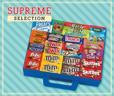 An easy candy fundraiser with quality, popular products at a great price. The Supreme contains a large selection of candies that your customers know and love. Perfect for school fundraisers! Relay For Life, School Fundraisers, Cheer Mom, Bake Sale, School Spirit, Teacher Appreciation, School Days, Teacher Gifts, Event Planning
