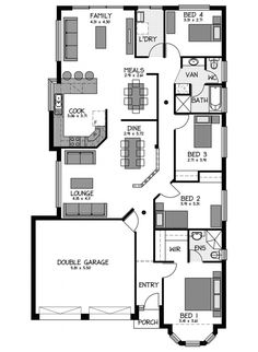 Rossdale Homes Statesman Floor plan Home Map Design, New Home Designs, House Design, House Map, Natural Building, Garden Living, Living Furniture, South Australia, Investment Property