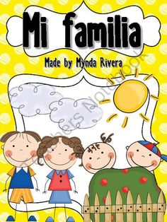 Mi Familia (All about my family in Spanish) from Mynda Rivera on TeachersNotebook.com -  (25 pages)  - These activities are perfect for the beginning of the school year and for your Social Studies lesson. You can use it at the beginning of the year as an introduction lesson to get to know your students