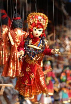 "Kumari - the ""living goddess"" puppet.    Nepali art & craft"
