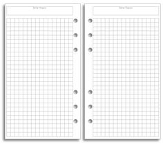 My Life All in One Place: Bullet Journal pages for your Filofax - free printable, personal size filofax planner