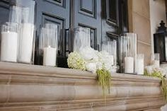 fireplace mantel decorating for a wedding