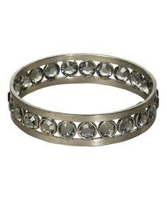 Another great find on #zulily! Swarovski® Crystal & Silvertone Bangle…