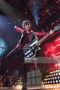 Billie Joe Armstrong of Green Day performs live at White River Amphitheatre on August 1, 2017 in Auburn, Washington.