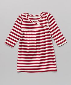 This Scarlet Stripe Alice Long-Sleeve Dress - Infant & Toddler by Yala is perfect! #zulilyfinds