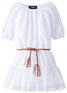 Amy Byer Little Girls' Short Sleeve Peasant Dress, White, 5 Amy Byer http://www.amazon.com/dp/B00SX2NE78/ref=cm_sw_r_pi_dp_hZXpvb08DJXSB