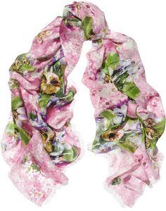 Mary Katrantzou Printed silk-chiffon scarf $700.00 thestylecure.com
