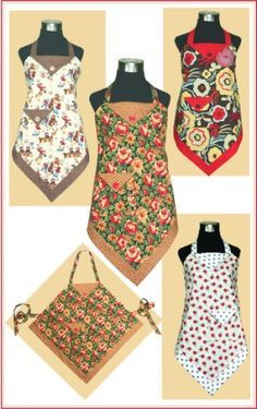 4 corner apron is quick-to-make and perfect for the beginning sewer but clever enough to appeal to all sewers. Selecting the coordinating fabrics is SO easy because it looks good in everything. Whether modern, cottage, Christmas, or barbecue, the apron takes on the personality of the fabric! By the way, it's very comfortable AND flattering!