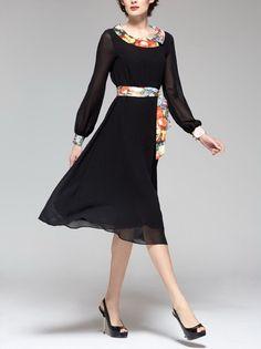 Spring summer chiffon dress: Grace Kelly style