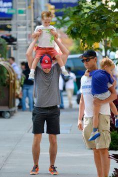 Matt Bomer With The Family In New York City