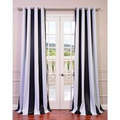 "Astoria Grand Boatwright Striped Blackout Thermal Grommet Single Curtain Panel Size: 50"" W x"