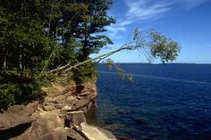 Ever been to Madeline Island? Check out dramatic views of Lake Superior while you explore the rugged wooded cliffs of Big Bay State Park in La Pointe, Wisconsin.