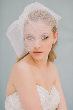 Tulle and Net Blusher - Style #1408