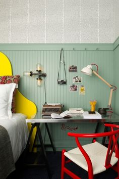 Hotel Triton, San Francisco, CA / Guest Room / 2012  For Hotel Triton, NICOLEHOLLIS updated the guestrooms with a fresh and playful take on San Francisco iconography.