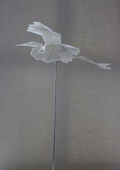 egret by origamist redpaper, via Flickr