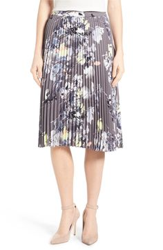 Main Image - Emerson Rose Floral Print Pleat Skirt