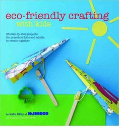 Quirky, colourful and fun projects for pre-school kids and their parents to make together. Small children love crafting and creating, and it's educational as well as enjoyable  -  crafting can help develop fine motor skills and teaches them to follow instructions and work alongside someone else.  look on amazon too