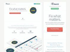 Responsive Risk I/O Marketing Site by MojoTech