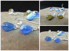 Pendientes-hechos-a-mano-con-cristales-color-azul-y-ambar