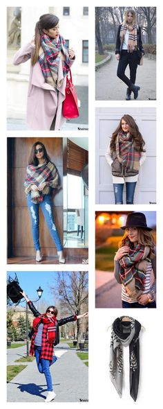 This fall and winter, wrap yourself in very softness with this scarve.  The vintage scarve will allow you to match any outfit. These scarves are a must-have fall and winter fashion staple!