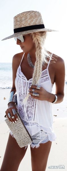 ≫∙∙boho, feathers + gypsy spirit∙∙≪ women fashion outfit clothing style apparel @roressclothes closet ideas