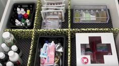 DICA ESPERTA COM ISOPOR: FAÇA DIVISÓRIAS DE GAVETA BARATAS PARA ORGANIZAR ROUPAS E OUTROS Lunch Box, Diy, Frame, Trips, Smart Cookie, Roaches, Good Ideas, Craft, Outfits