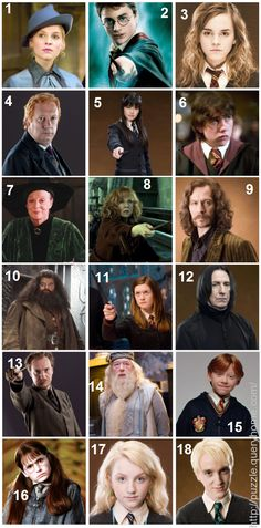 Can You Name All Of These Harry Potter Characters?