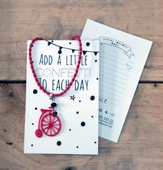 Red Bicycle Necklace - 35% off sale! Greeting card necklace Perfect big little gift! Girl jewelry kids jewellery gift