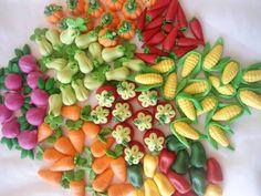 Apliques de Legumes para a Fazendinha | Atelier Amor Pela Arte Artesanato feito Com Amor P/ Você e P/ Quem Você Ama! ♥ | Elo7