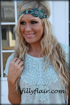 (http://www.fillyflair.com/pink-pewter-headband-suzanne-turquoise/)