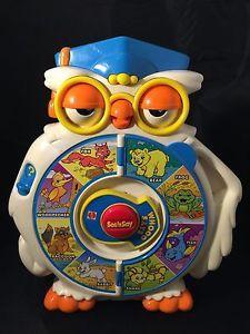 Vintage Mattel Whooo Says Wise Owl See Say See 'N Say 1996 Flip Page 2 Modes | eBay
