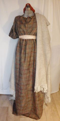 North-western European Iron Age (800-0 BC in Holland) costume with a woollen #prehistoricage #prehistoric #age #prehistoric #age #costume Iron Age, Prehistoric Age, Germanic Tribes, North Western, Anglo Saxon, Tube Dress, Mantle, Holland, Costumes