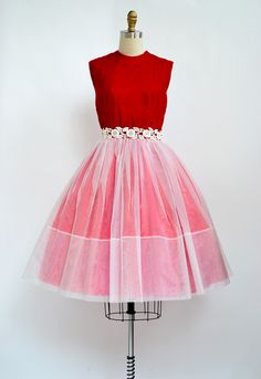 vintage 1950s red velvet party dress [Red Velvet Dress] - $111.00 : ADORED | VINTAGE, Vintage Clothing Online Store