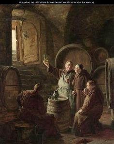 Tasting The Wine - Eduard Von Grutzner