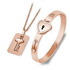 Bracelet Couple, Promise Bracelet, Key Bracelet, Couple Jewelry, Key Necklace, Jewelry Sets, Key Jewelry, Cute Couple Necklaces, Crystal Jewelry